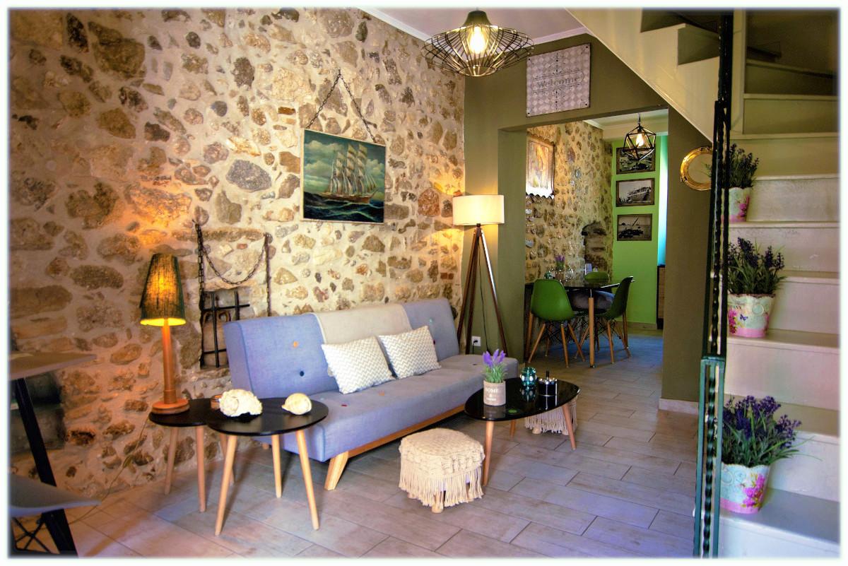 Parga Cozy House living room (B10w)